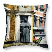 The Black Friar Pub In London Throw Pillow