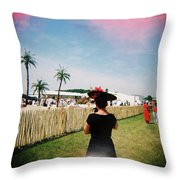 The Black Hat Throw Pillow