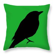 The Black Phantom Throw Pillow