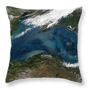 The Black Sea In Eastern Russia Throw Pillow by Stocktrek Images