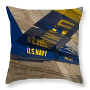 The Blue Angels Perform Over El Centro Throw Pillow