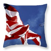 The Blue Angels Performing At An Air Throw Pillow