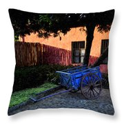 The Blue Cart Throw Pillow