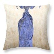 The Blue Dress Throw Pillow