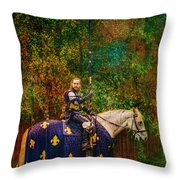 The Blue Knight  Throw Pillow