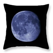 The Blue Moon Throw Pillow