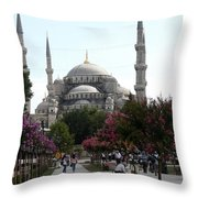 The Blue Mosque  - Istanbul Throw Pillow
