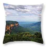 The Blue Mountains - Panoramic View Throw Pillow