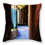 The Blue Path Throw Pillow