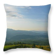 The Blue Ridge Mountains In July 01 Throw Pillow