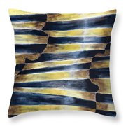 The Blue Violin Throw Pillow