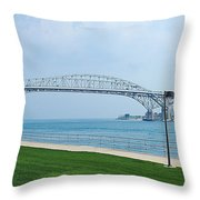 The Blue Water Bridge  Throw Pillow
