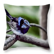 The Bluest Of Blue Throw Pillow