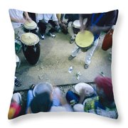The Blur Of A Frenzied Beat In A Circle Throw Pillow