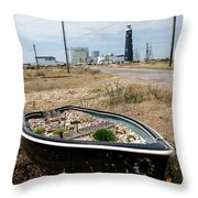 The Boat Garden Throw Pillow