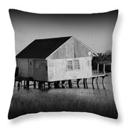 The Boathouse With Texture Throw Pillow