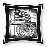 The Bombs Bursting In Air Bw Throw Pillow
