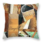 The Bottle Of Banyuls Throw Pillow