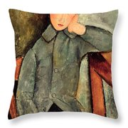 The Boy Throw Pillow by Amedeo Modigliani