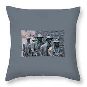 The Breadline Franklin Delano Roosevelt Memorial Throw Pillow