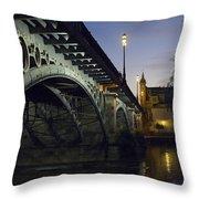 The Bridge Of Triana, Puente De Triana Throw Pillow