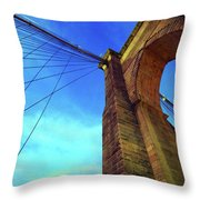 The Brooklyn Bridge Throw Pillow