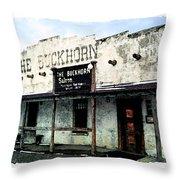 The Buckhorn Saloon Throw Pillow