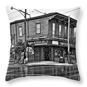 The Buddha Belly Monochrome Throw Pillow by Steve Harrington