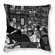 The Bulls Throw Pillow