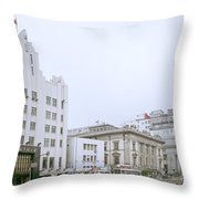 The Bund In Shanghai In China Throw Pillow
