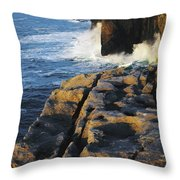 The Burren, Co Clare, Ireland Throw Pillow