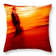 the Busniessman and the pact with the devil Throw Pillow
