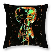 The Caduceus Throw Pillow