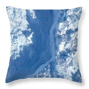 The Calving Front Of The Jakobshavn Throw Pillow