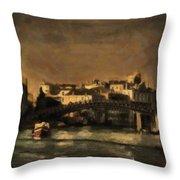 The Canal Venice Throw Pillow