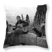 The Canine Troubadour Throw Pillow