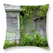 The Canna Farm Throw Pillow