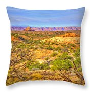 The Canyon In The Distance Throw Pillow