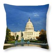 The Capitol Throw Pillow