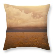 The Caribbean Sea Reflects The Sunset Throw Pillow