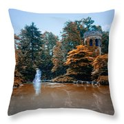 The Castle At Longwood Gardens Throw Pillow