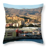 The Castle In Almeria Spain Throw Pillow