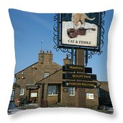 The Cat And Fiddle Pub Throw Pillow