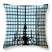 The Cathedral Chandelier  Throw Pillow