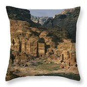 The Caves And Tombs Of Petra, Shown Throw Pillow