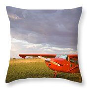 The Cessna Makes A Pit Stop To Refuel Throw Pillow