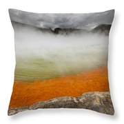 The Champagne Pool In Wai O Tapu Throw Pillow