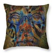 The Change Of Faces Throw Pillow