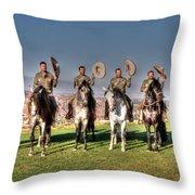 The Charros Throw Pillow