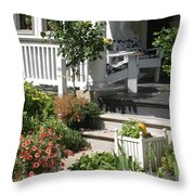 The Cheerful Porch Throw Pillow